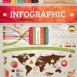 Set elements of infographics for design — Stock Vector #22364487