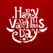 Happy Valentine's day lettering label for holiday design — Stock Vector #22364555