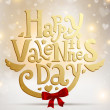 Happy Valentine's day lettering label for holiday design — Imagens vectoriais em stock