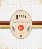 Happy Valentine's Day Lettering for love typographical design, old paper dotted background — Stock Vector