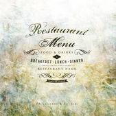 Design do menu de restaurante — Vetorial Stock