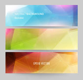 Banners for business modern design — Vector de stock