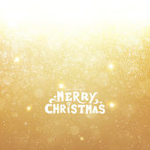 Gold Christmas background with snowflakes for Xmas design. — Stock Vector