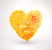 Watercolor vector heart for vintage design. — Vettoriale Stock