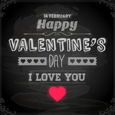 Happy Valentines Day Card Design. 14 February — Vector de stock