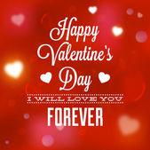 Happy Valentines Day Card Design. — Stock Vector