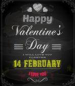 Happy Valentines Day Card Design. — Stock vektor