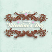 Happy Valentines Day Card Design. — Stock Vector