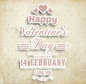Happy Valentines Day Card Design. — Vettoriale Stock