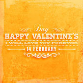 Happy Valentines Day Card Design. — Vector de stock