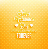 Happy Valentines Day Card Design. — Stockvector