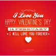 Happy Valentines Day Card Design. — Stock Vector #42387785
