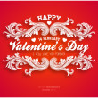 Happy Valentines Day Card Design. — Stock Vector #42387891
