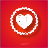 Valentine's Day Background with Heart. — Stock Vector