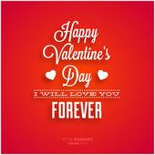 Design de cartão feliz dia dos namorados. — Vetor de Stock