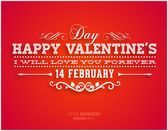 Happy Valentines Day Card Design. — Stock vektor