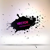 Black Paint Stains, Vector Splatter — Stock Vector