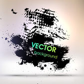 Black Paint Explosion, Abstract Background — Stock Vector