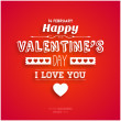 Happy Valentinstag-card — Stockvektor  #42615411