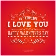Happy Valentines Day Card Desig — Stock Vector