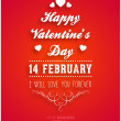 Happy Valentines Day Card — Vector de stock