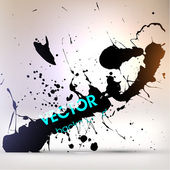 Abstract Black Grunge Background — Stock Vector