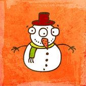 卡通雪人. — 图库矢量图片