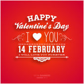 Happy Valentines Day Card Desig — Vettoriale Stock