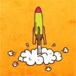 Rocket Launch. — Stock Vector