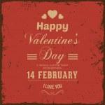 Happy Valentijnsdag kaart ontwerp — Stockvector  #42988403