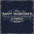 Happy Valentines Day Card Design. — Stok Vektör #42988465
