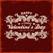 Happy Valentines Day Card Design. — Vector de stock  #42988523