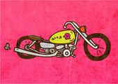 Chopper motocyklu. — Stock vektor
