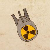 Nuclear Bomb. — Stock Vector