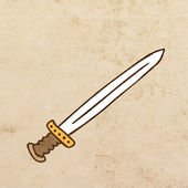 Cartoon Weapon. — Stock Vector