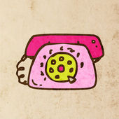 Retro Telephone. — Vector de stock