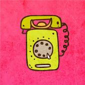 Retro Telephone. — Vettoriale Stock