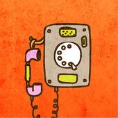 Retro Telephone. — Vector de stock