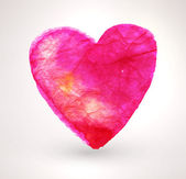 Watercolor Painted Heart — Vector de stock