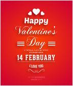 Happy Valentines Day Card Design. — Stok Vektör