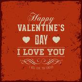 Disegno di carta felice giorno di san valentino. — Vettoriale Stock