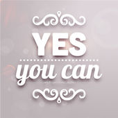 """Yes you can"" — Stock Vector"