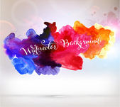 Abstract Background with Watercolor Stains — Stock Vector