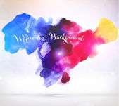 Abstract Background with Watercolor Stains — Stock vektor