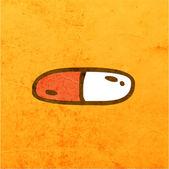 Funny capsule. — Stock Vector