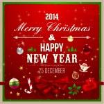 Christmas Greeting Card. — Stock Vector #43227779
