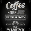 Chalkboard Poster Lettering Coffee — Stock Vector #43228137