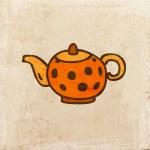 Orange Teapot. — Stock Vector #43228461