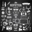 Hipster style infographics elements and icons set — ストックベクタ