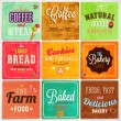 Set of retro bakery label cards for vintage design — Vettoriale Stock  #43228725